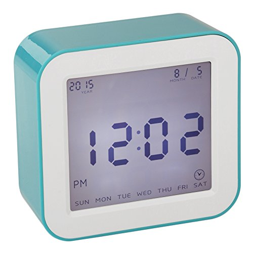 DreamSky Digital Alarm Clock With Timer, Time/Date/Temperature Display In 4 Angle , Light Activated Night Light -Battery Operated Travel Alarm Clock ,Simple To Set Clocks