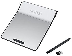 Wacom - CTH-300K - Bamboo Pad (Touch pad) sans fil avec stylet numerique - Gris/Blanc