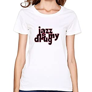 Jazz Drug Print Korean Short Sleeve O Neck T Shirt For Women