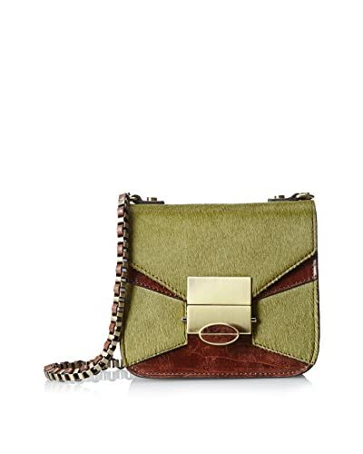 Treesje Women's Coast Cross-Body, Olive Hair Calf