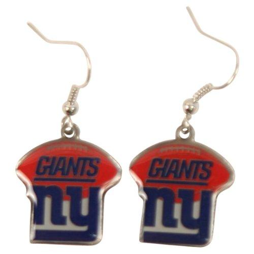New York Giants Nfl Football Style Dangle Earrings