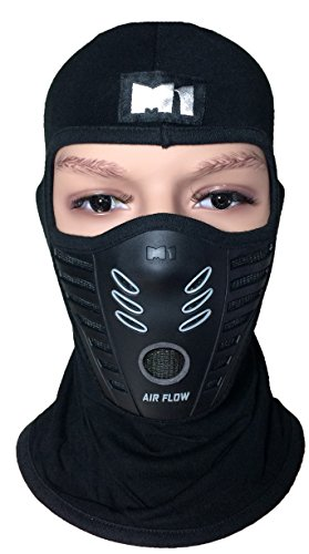 M1 Full Face Cover Balaclava Protection Filter Rubber Mask (BALA-FILT-RUBB-BLCK)