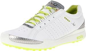 ECCO Women's Biom Hybrid Sport Golf Shoe,White/Lime Punch,36 EU/5-5.5 M US