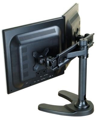 "Newstar Fpma-D700Dd - Mounting Kit ( Desk Stand ) For 2 Lcd Displays - Black - Screen Size: 10"" - 26"" - Mounting Interface: 100 X 100 Mm, 75 X 75 Mm - Table-Top"