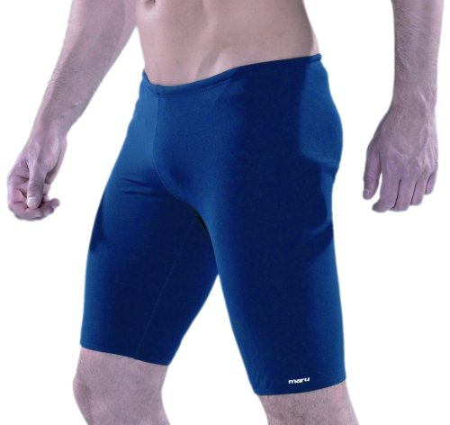 Maru Swimwear Men's Solid Pacer Jammer - Navy, 26 Inch