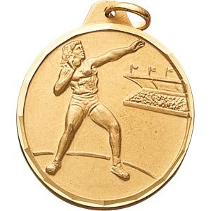 Buy 1 1 4 Inch Silver Female Shot Put Medal by CM
