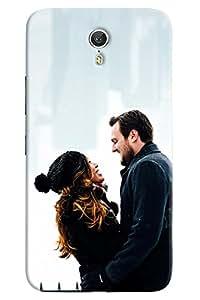 Omnam Couple Loving Each Other Printed Designer Back Case For Lenovo Zuk Z1