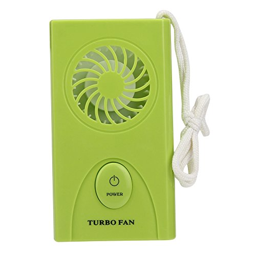 Rumas® Portable Handheld Mini Air Conditioner Cooler Fan Battery (green) (Battery Fan Grill compare prices)