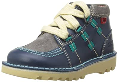 Kickers Boys Kick Ghill Boots 112655 Dark Blue/Grey 5 UK Child, 22 EU