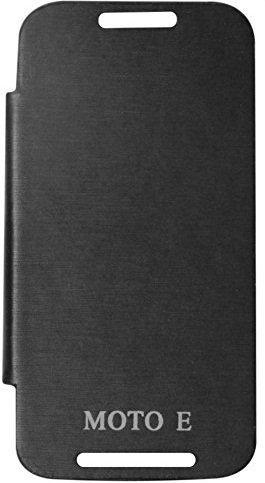 Dashmesh Shopping Premium Durable Flip Cover Case for Motorola Moto E Black