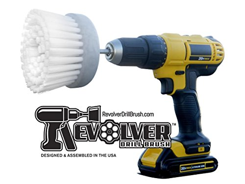 Revolver Drill Brush - Power Scrubbing Drill Attachment - Multi-Purpose Cleaning Tool (Shower Cleaning Tools compare prices)