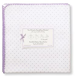 Swaddle Designs Ultimate Receiving Blanket, Lavender Polka Dots