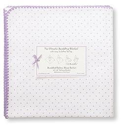 Swaddle Designs Ultimate Receiving Blanket, Lavender Polka Dots