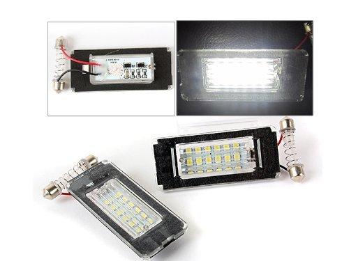 Newsun 2Pcs Error Free 3528 Smd 18 Leds Car License Plate Light Led Rear Number Lamp For Mini Cooper R56 6000K Xenon White