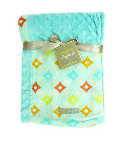 Blankets and Beyond Soft and Plush Blanket (Blue) - 1