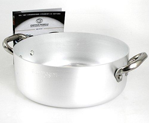 Pentole Agnelli Casseruola Alluminio Bassa Cm. 34 cod.ALMA10634