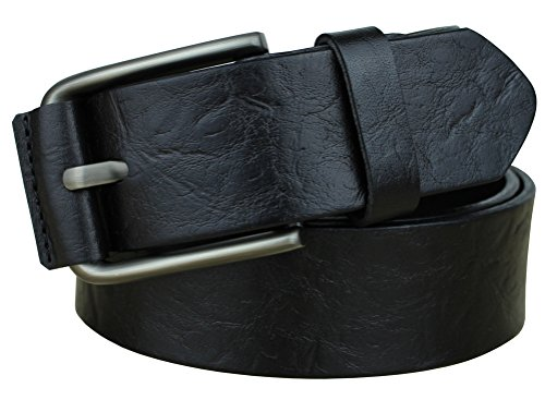 Bullko-Mens-Pin-Buckle-Casual-Genuine-Leather-Belt