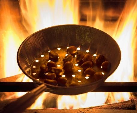 "Chestnuts Roasting in a Pan on Fire - 48""W x 40""H - Peel and Stick Wall Decal by Wallmonkeys"