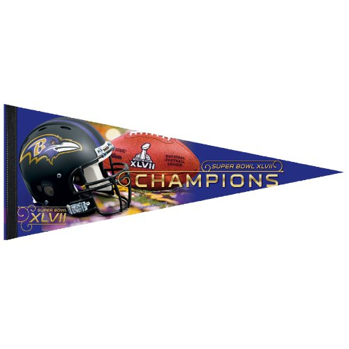 Nfl Baltimore Ravens Super Bowl Xlvii Champions Premium Quality Pennant 12-by-30-inch Picture