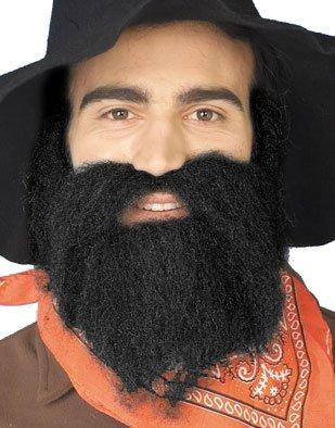Black 49er Mountain Bush Man Costume Moustache