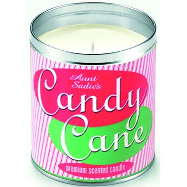 Aunt Sadie's Candy Cane Candle