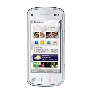 Nokia N97 Unlocked Cellular Phone with 5MP Camera, Touchscreen, 32GB Storage, 3G, GPS, WiFi - International Version with No Warranty (White)