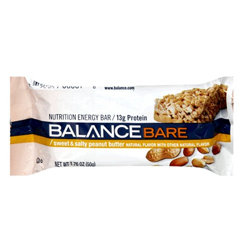 Balance Bar Bare Nutrition Energy Bar, Sweet & Salty Peanut Butter, 1.76 Ounces (Pack of 15)
