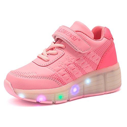 Sollomensi-Zapatillas-con-ruedas-y-luces-LED-5-colores-Velcro-Zapatos-deportivas-carrefour-para-nios-mujer-hombre