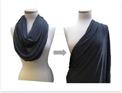 Discover Bargain AbbieGrace Designs Infinity Nursing Scarf (Dark Heather Grey)