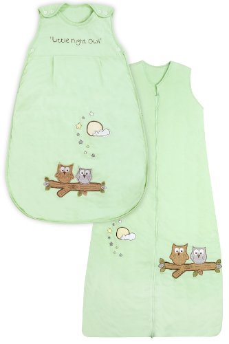 Baby Sleeping Bag approx. 2.5 Tog - Mint Owl - 0-6 months/28inch