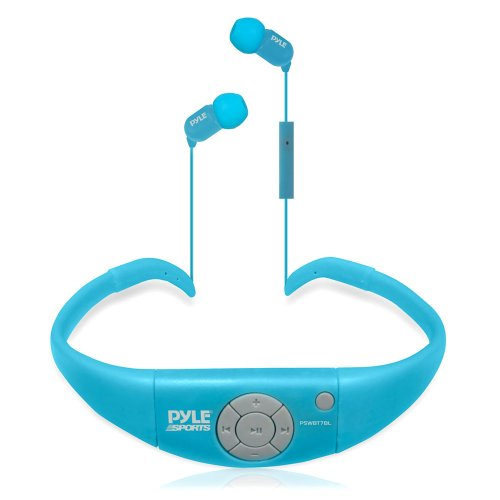 Pyle Pswbt7Bl Active Sport Water Resistant Bluetooth Hands Free Wireless Stereo Headphones And Headset With Built In Microphone For Call Answering (Blue)