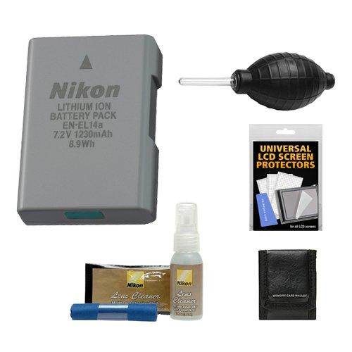 nikon-en-el14a-rechargeable-li-ion-battery-with-nikon-lens-cleaner-kit-for-d3200-d3300-d3400-d5200-d