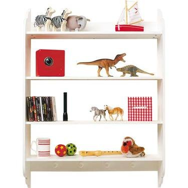 Four White Wood Shelves - Color: White
