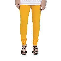 Vami Cotton Churidar Leggings in Sun Flower Color _VM1001(55)