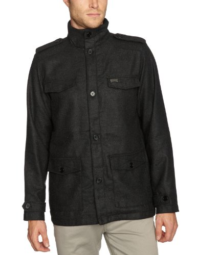 Iron Fist Holmes Herringbone Mens Jacket Dark Charcoal Small