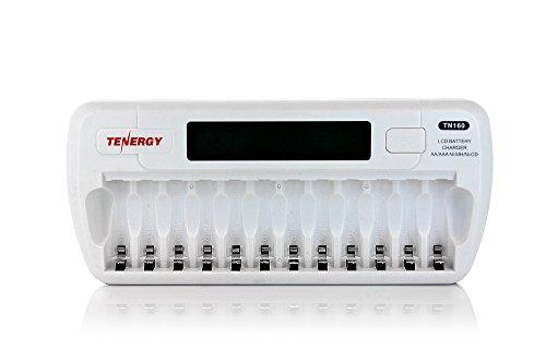 Tenergy TN160 12-Bay AA/AAA NIMH/NICD LCD Smart Battery Charger