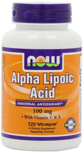 Now Foods Alpha Lipoic Acid 100Mg, 120 Vcaps