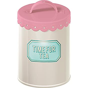 Creative Tops Retro Treats Pink Tea Storage Tin