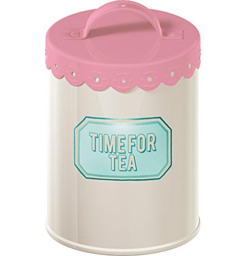 Creative Tops Retro Treats Pink Tea Storage Tin 0