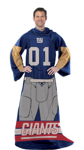 New York Giants Comfy Snuggie Blanket Full Player Design