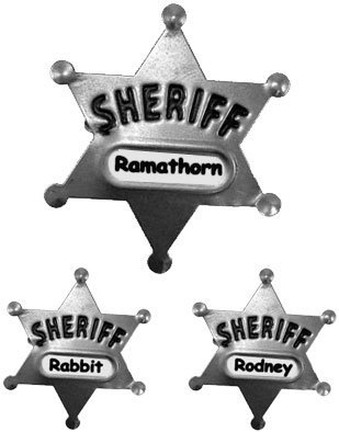 Costume Sheriff Police Badge Child Adult Custom Name