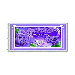 3D Diamond Stitch Love Lifelong Rose Purple Forever True Love Diamond Painting Cross Stitch