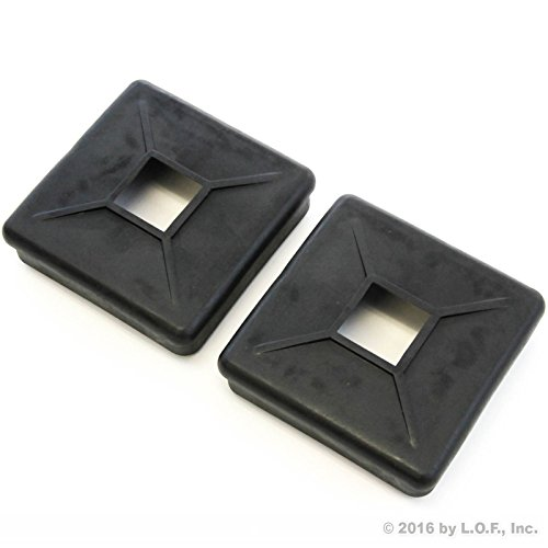 2 Rubber Bumper Plug End Caps Square 4