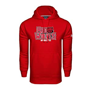 Arkansas State Under Armour Red Performance Sweats Team Hood