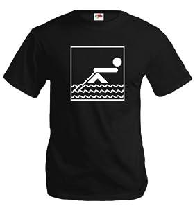 T-Shirt Rowing-Pictogram-M-Black-White