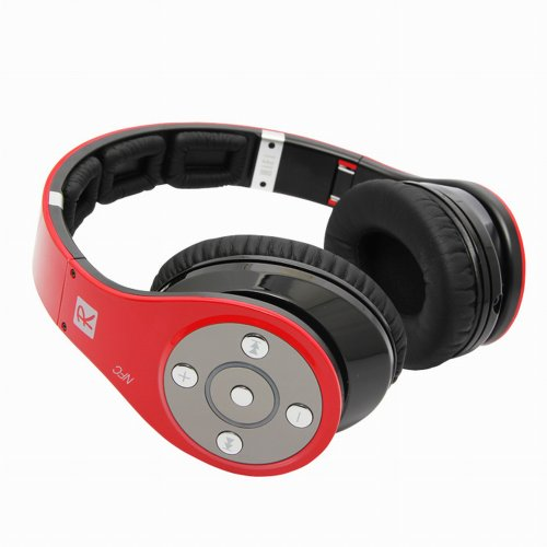 Bluedio Upgrade Version R+: Nfc & Bluetooth V4.0 Wireless Stereo Headphone With Apt-X Codec Foldable 8 Tracks Super Bass Hifi Headset With Handsfree -1300Hrs(50Days) Standby (R+) (Red)