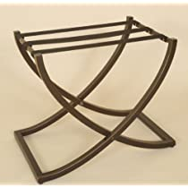 Oil Rubbed Bronze Luggage Rack (Oil Rubbed Bronze) (21H x 22W x 16D)
