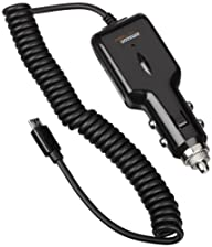 AmazonBasics Micro USB Universal Car Charger for Android – Coiled Cable