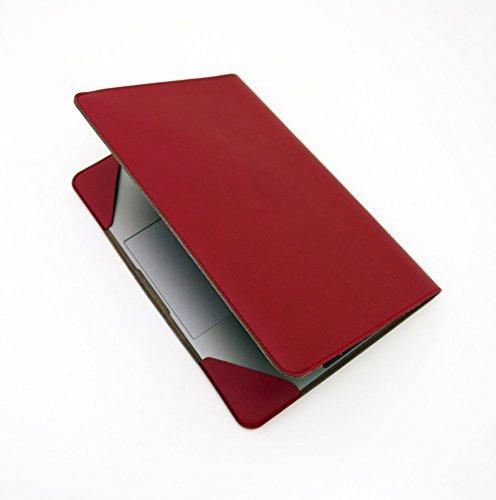 バード電子 MacBook 12インチ ジャケット (エンジ) 日本製 PU レザー カバー JKT-MB12E