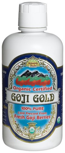 Dynamic Health Goji Gold- 100% Pure Organic Certified Goji Juice, 32-Ounce Bottle